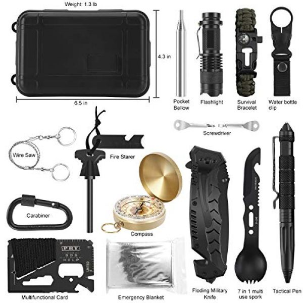 Verifygear Survival Kit 2 Verifygear Survival Kit, 17 in 1 Professional Survival Gear Tool Emergency Tactical First Aid Equipment Supplies Kits for Men Women Families Hiking Camping Adventures