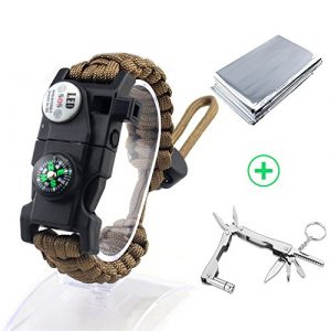 Louistank Survival Kit 1 Louistank Emergency Survival Kit,Survival Gear with Paracord BraceletMultitool,Emergency Blanket,CompassFire Starer,SOS Light,Whistle,Survival Knife,for Outdoor Hiking Camping Climbing Adventures