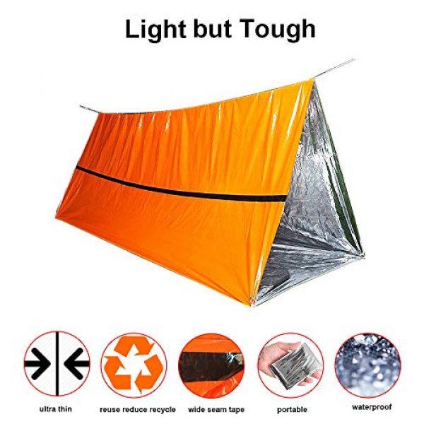 Funlove Survival Kit 4 Funlove 2 Person Survival Emergency Tent- Use As Survival Tube Tent, Emergency Shelter, Survival Sleeping Bag, Survival Tarp