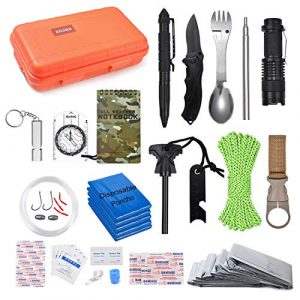 EILIKS Survival Kit 1 EILIKS Survival Kits 47 in 1 Outdoor Emergency SOS Survival Gear Kits for Car Camping Hiking Trekking Wild Adventure Earthquake Survive Tool for Him Father Husband Men Dad Boyfriend Gift
