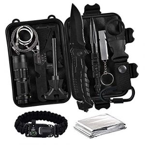 Campifize Survival Kit 1 Campifize Survival Tool Kit for Emergencies 13 in 1 Gear for Camping, Hiking, Climbing, Car - Birthday Gift - Present for Boyfriend - Husband or Wife - Mom or Dad - Father's Day