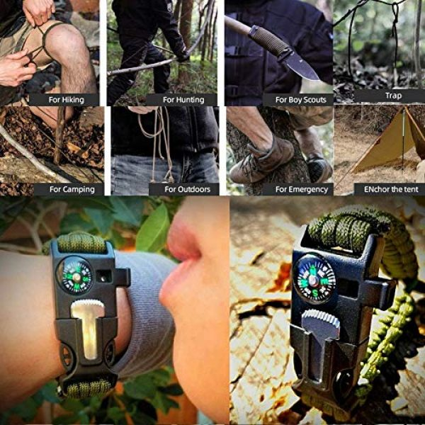 Welltop Survival Kit 7 Welltop 12 in 1 Outdoor Survival Kits Fishing Hunting Gear Hiking Camping Equipment Outdoor Adventure Gifts Ideas EDC Emergency Tools Cool & Unique Gadgets Gifts for Men Dad Husband Boyfriend