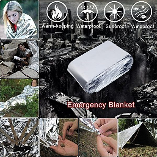 Louistank Survival Kit 6 Louistank Emergency Survival Kit,Survival Gear with Paracord BraceletMultitool,Emergency Blanket,CompassFire Starer,SOS Light,Whistle,Survival Knife,for Outdoor Hiking Camping Climbing Adventures