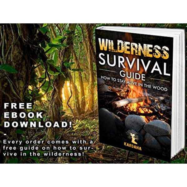 Kardana Survival Kit 6 Survival Kit 14 in 1 & eBook - Emergency Gear Kit for Outdoor / Camping / Hiking / Self Defense Weapons - Tactical Pen, Flashlight, Wire Saw, Emergency Blanket, Modern Compass, Special eBook Included