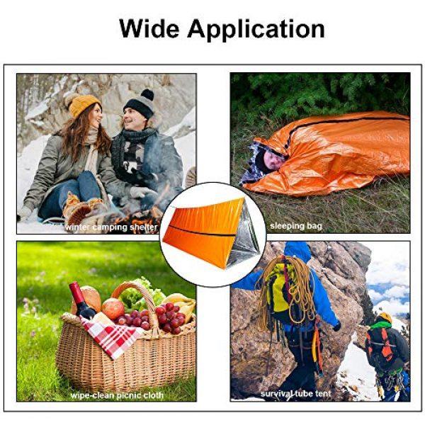 Funlove Survival Kit 5 Funlove 2 Person Survival Emergency Tent- Use As Survival Tube Tent, Emergency Shelter, Survival Sleeping Bag, Survival Tarp
