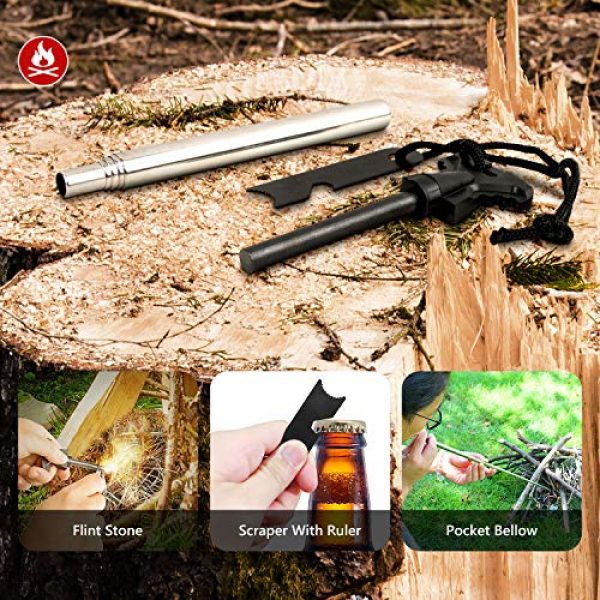 Limechoes Survival Kit 4 Limechoes Survival Kit,15 in 1 Emergency Survival Kit and Equipment Tools, Professional Survival Gear for Camping, Hiking. Adventure Outdoors Sport. Creative &Cool Birthday Gifts for Men.