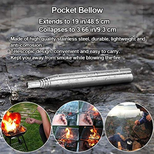 HMMS Survival Kit 6 HMMS Emergency Survival Kit 13 in 1, Mini Survival Equipment Kit Outdoor Survival Tools | Outdoor Hiking Fishing Hunting Backpack | For Adventure Outdoor Camping Sports Travel Hiking