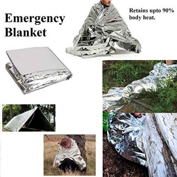 MackMo Products Survival Kit 7 MackMo Products Ultimate 13-in-1 Emergency Kit: Outdoor Survival Kit w/Pocket Knife Emergency Blanket, Flashlight, Compass, Knife in Waterproof Case| Travel Camping Car Survival Gear