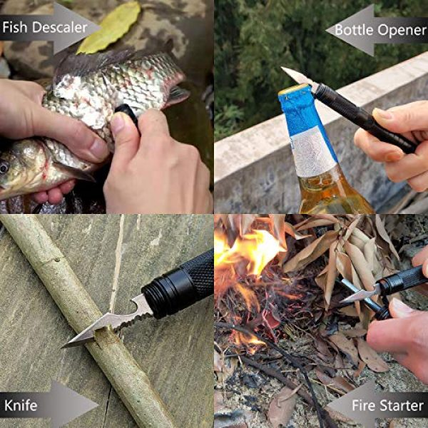 SUWIKEKE Survival Kit 4 SUWIKEKE Survival Kit, 9 in 1 Survival Tool, Gift for Men Dad Husband Boyfriend Boys, Survival Fishing kit for Camping Hiking Travelling Wilderness Adventures