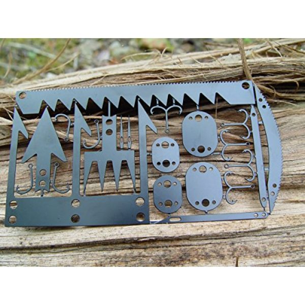 Bear Claw Trading Company Survival Tool 3 22 in 1 Credit Card Survival Tool/Multitool - Great for Survival Kit/Gear, Camping Gear, Hiking, Fishing Gear, Survival Emergency Kit or Zombies