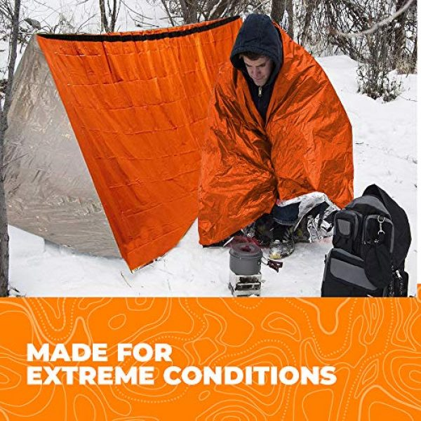 Survival of the Fittest Survival Shelter 6 Survival of the Fittest Emergency Tent - Portable Mylar Survival Tent for Outdoor Activities - Lightweight All-Weather Thermal Tube Tent for Camping - Emergency Survival Tent Waterproof Shelter for 2