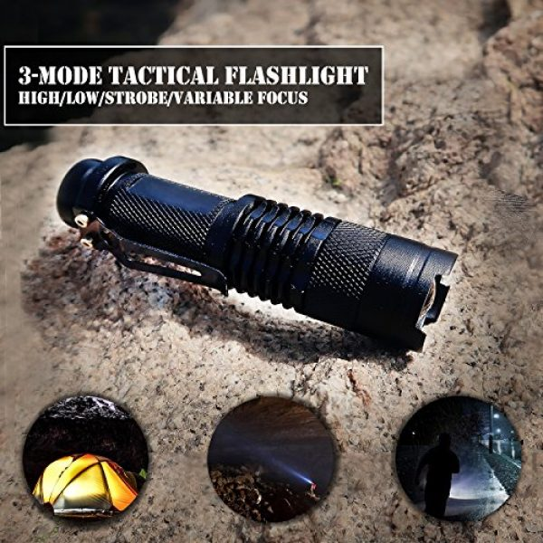 EVERLIT Survival Kit 3 EVERLIT Survival Kit, 80-in-1 Outdoor Gears Tactical Tools Emergency Kit, First Aid Kit, Flashlight, Survival Bracelet, Emergency Blanket, Tactical Pen, for Camping, Hiking, Hunting