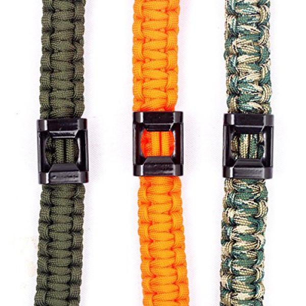 Q4Home Survival Bracelet 2 Q4Home Paracord Survival Bracelet; 5 in 1 Survival Bracelets Kit. Paracord, Fire-Starter Flint, Whistle, Compass, Multi Tactical Tool.