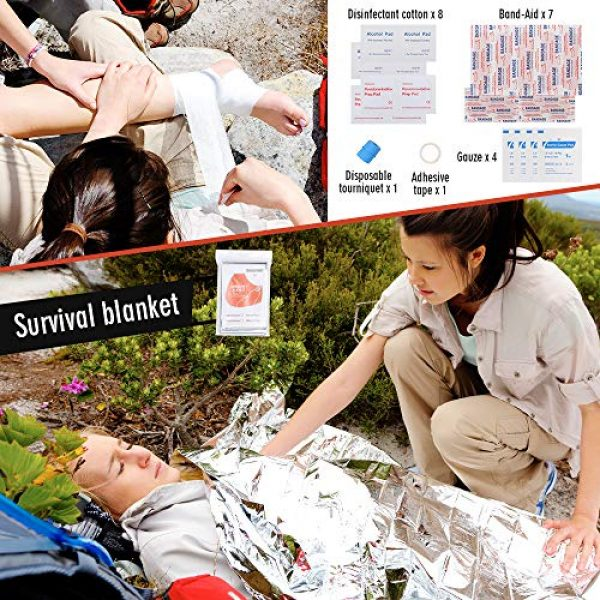 EILIKS Survival Kit 5 EILIKS Survival Kits 47 in 1 Outdoor Emergency SOS Survival Gear Kits for Car Camping Hiking Trekking Wild Adventure Earthquake Survive Tool for Him Father Husband Men Dad Boyfriend Gift
