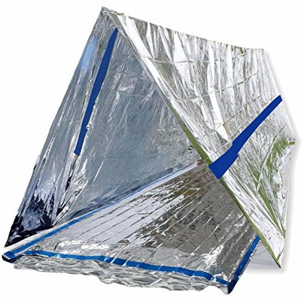 BlizeTec Quality Matters! Survival Shelter 1 BlizeTec Emergency Bivy Sack Mylar Thermal Survival Blanket and Tube Tent with Mini Carry Bag