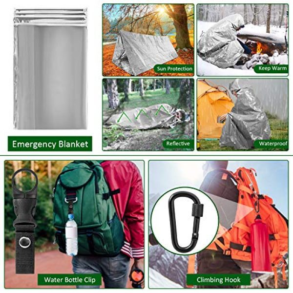 ACVCY Survival Kit 5 ACVCY Survival Gear Kit, 15 in 1 Emergency Survival Kit Professional Emergency Camping Gear Tactical Survival Kit for Camping Hiking Hunting with Wire Saw Emergency Blanket etc