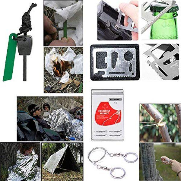 XUANLAN Survival Kit 6 XUANLAN Emergency Survival Kit 13 in 1, Outdoor Survival Gear Tool with Survival Bracelet, Fire Starter, Whistle, Wood Cutter, Water Bottle Clip, Tactical Pen (Survival Kit 5)