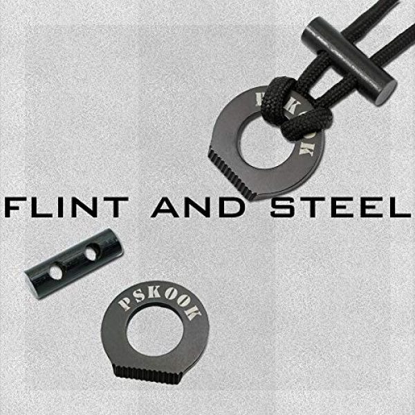 PSKOOK Survival Kit 2 PSKOOK Fire Starter Necklace Survival Gear Firesteel and Striker Kit Paracord Survival Necklace Magnesium Ferro Rod Tool with Tinder Cord