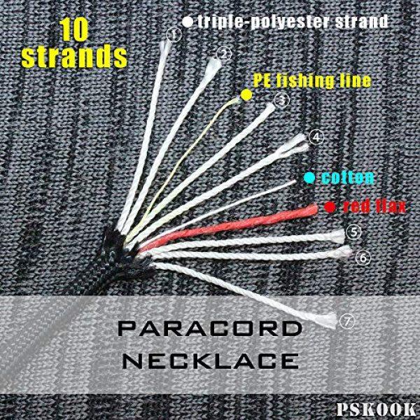 PSKOOK Survival Kit 3 PSKOOK Fire Starter Necklace Survival Gear Firesteel and Striker Kit Paracord Survival Necklace Magnesium Ferro Rod Tool with Tinder Cord