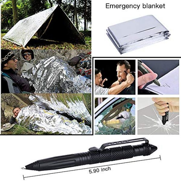DLY Survival Kit 6 DLY Emergency Survival Kit 13 in 1 - Outdoor Survival Gear Tool for Wilderness/Trip/Cars/Hiking/Camping Gear - Emergency Blanket, Flashlight, ect (Emergency Survival Kit SET2)