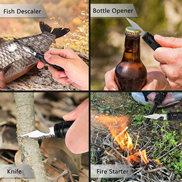 SULKADA Survival Kit 7 Gifts for Men Dad Boyfriend,Survival Gear Kits 9 in 1 Fishing Hiking Hunting Birthday Gift Ideas for Husband Him Son, Emergency Survival Tool