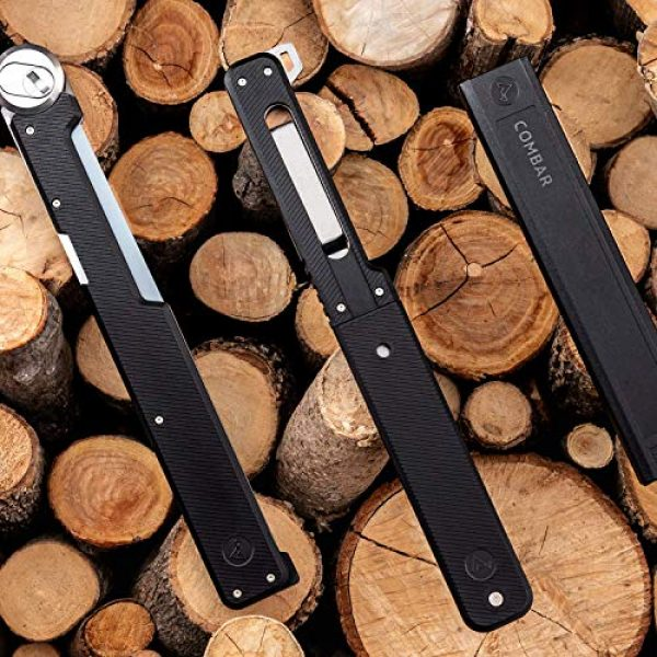 ACLIM8 Survival Saw 5 Pro Kit - Drop-Point Survival Knife and Folding Saw by ACLIM8. The Complementary System That Fits Snugly Inside the Handle.