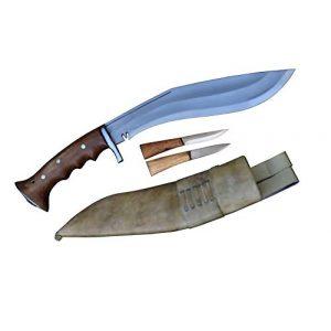 "R&T Trading Co. Fixed Blade Survival Knife 1 R&T Trading Co. Genuine Gurkha Kukri-Authentic 5"" Blade Cheetlange Special Kukri-Rat Tail Tang Rosewood Handle, Leather Sheath Khukuri- Handmade in Nepal by Gurkha Kukri House - Imported"