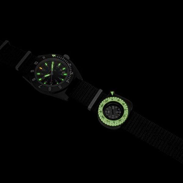 Marathon Survival Compass 2 Marathon Watch Clip-On Wrist Compass with Glow in The Dark Bezel. Northern Hemisphere Version - CO194005