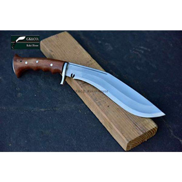 "R&T Trading Co. Fixed Blade Survival Knife 3 R&T Trading Co. Genuine Gurkha Kukri-Authentic 5"" Blade Cheetlange Special Kukri-Rat Tail Tang Rosewood Handle, Leather Sheath Khukuri- Handmade in Nepal by Gurkha Kukri House - Imported"