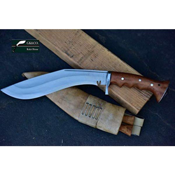"R&T Trading Co. Fixed Blade Survival Knife 2 R&T Trading Co. Genuine Gurkha Kukri-Authentic 5"" Blade Cheetlange Special Kukri-Rat Tail Tang Rosewood Handle, Leather Sheath Khukuri- Handmade in Nepal by Gurkha Kukri House - Imported"
