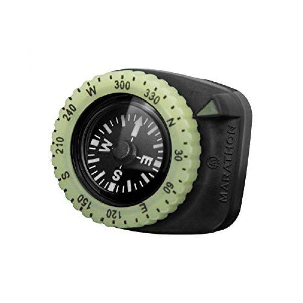 Marathon Survival Compass 1 Marathon Watch Clip-On Wrist Compass with Glow in The Dark Bezel. Northern Hemisphere Version - CO194005