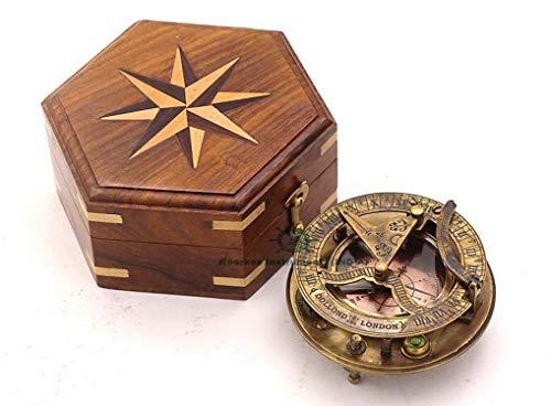 Roorkee Instruments India Survival Compass 3 Roorkee Instruments India Captain Sundial Compass with Box Dolond London Sun Clock