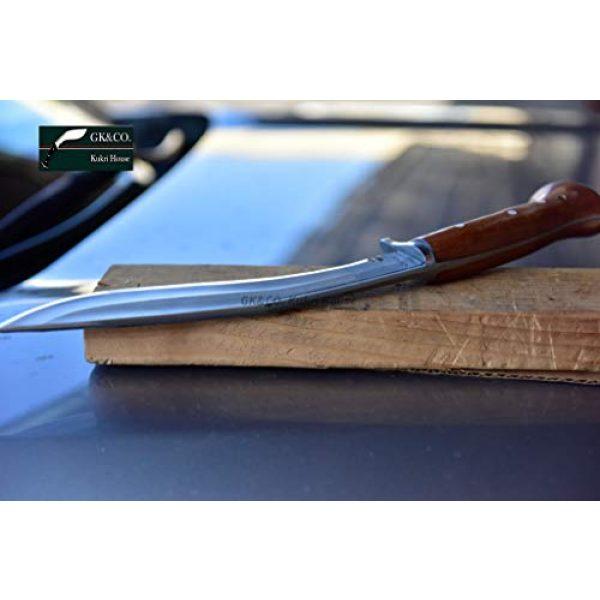 "R&T Trading Co. Fixed Blade Survival Knife 6 R&T Trading Co. Genuine Gurkha Kukri-Authentic 5"" Blade Cheetlange Special Kukri-Rat Tail Tang Rosewood Handle, Leather Sheath Khukuri- Handmade in Nepal by Gurkha Kukri House - Imported"