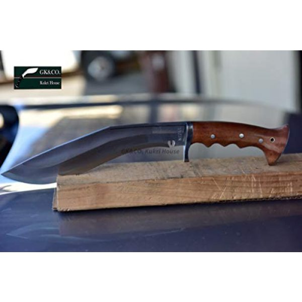 "R&T Trading Co. Fixed Blade Survival Knife 5 R&T Trading Co. Genuine Gurkha Kukri-Authentic 5"" Blade Cheetlange Special Kukri-Rat Tail Tang Rosewood Handle, Leather Sheath Khukuri- Handmade in Nepal by Gurkha Kukri House - Imported"
