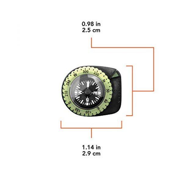 Marathon Survival Compass 3 Marathon Watch Clip-On Wrist Compass with Glow in The Dark Bezel. Northern Hemisphere Version - CO194005