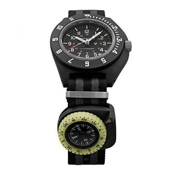 Marathon Survival Compass 5 Marathon Watch Clip-On Wrist Compass with Glow in The Dark Bezel. Northern Hemisphere Version - CO194005