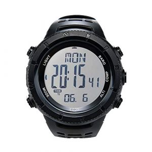 EZON Survival Compass 1 EZON Men's Digital Sports Watch for Outdoor Hiking with Compass Altimeter Barometer Thermometer Waterproof Military Watch Wristwatch H001H11