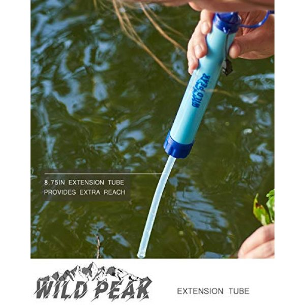 Wild Peak Survival Water Filter 3 Wild Peak Stay Alive-1 Outdoor 4-Stage 4000 Liter Water Filter Emergency Straw with Activated Carbon for Survival, Camping, Hiking, Climbing, Backpacking (2-Pack)