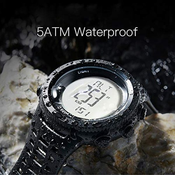 EZON Survival Compass 3 EZON Men's Digital Sports Watch for Outdoor Hiking with Compass Altimeter Barometer Thermometer Waterproof Military Watch Wristwatch H001H11