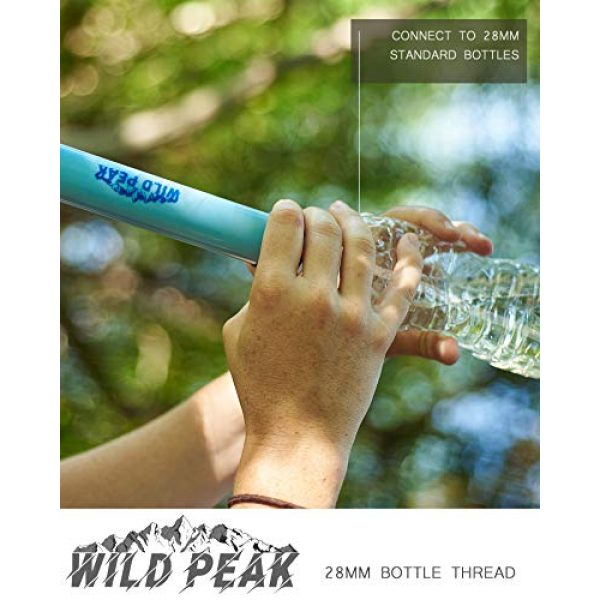 Wild Peak Survival Water Filter 4 Wild Peak Stay Alive-1 Outdoor 4-Stage 4000 Liter Water Filter Emergency Straw with Activated Carbon for Survival, Camping, Hiking, Climbing, Backpacking (2-Pack)