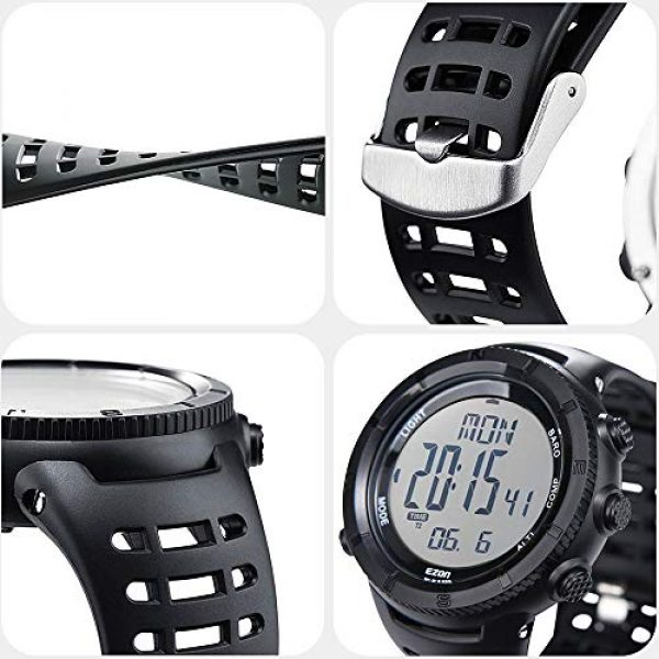 EZON Survival Compass 5 EZON Men's Digital Sports Watch for Outdoor Hiking with Compass Altimeter Barometer Thermometer Waterproof Military Watch Wristwatch H001H11