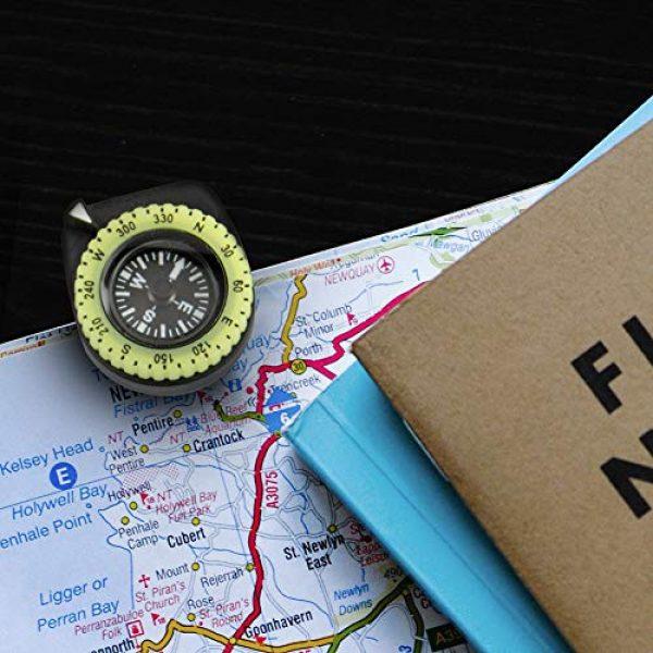 Marathon Survival Compass 7 Marathon Watch Clip-On Wrist Compass with Glow in The Dark Bezel. Northern Hemisphere Version - CO194005