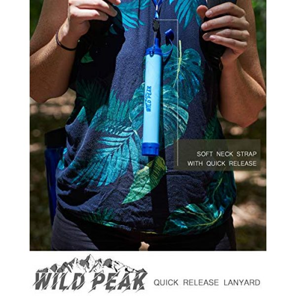 Wild Peak Survival Water Filter 7 Wild Peak Stay Alive-1 Outdoor 4-Stage 4000 Liter Water Filter Emergency Straw with Activated Carbon for Survival, Camping, Hiking, Climbing, Backpacking (2-Pack)